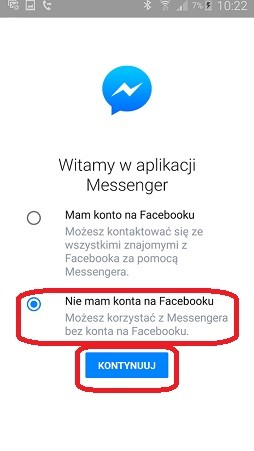 messenger bez fb