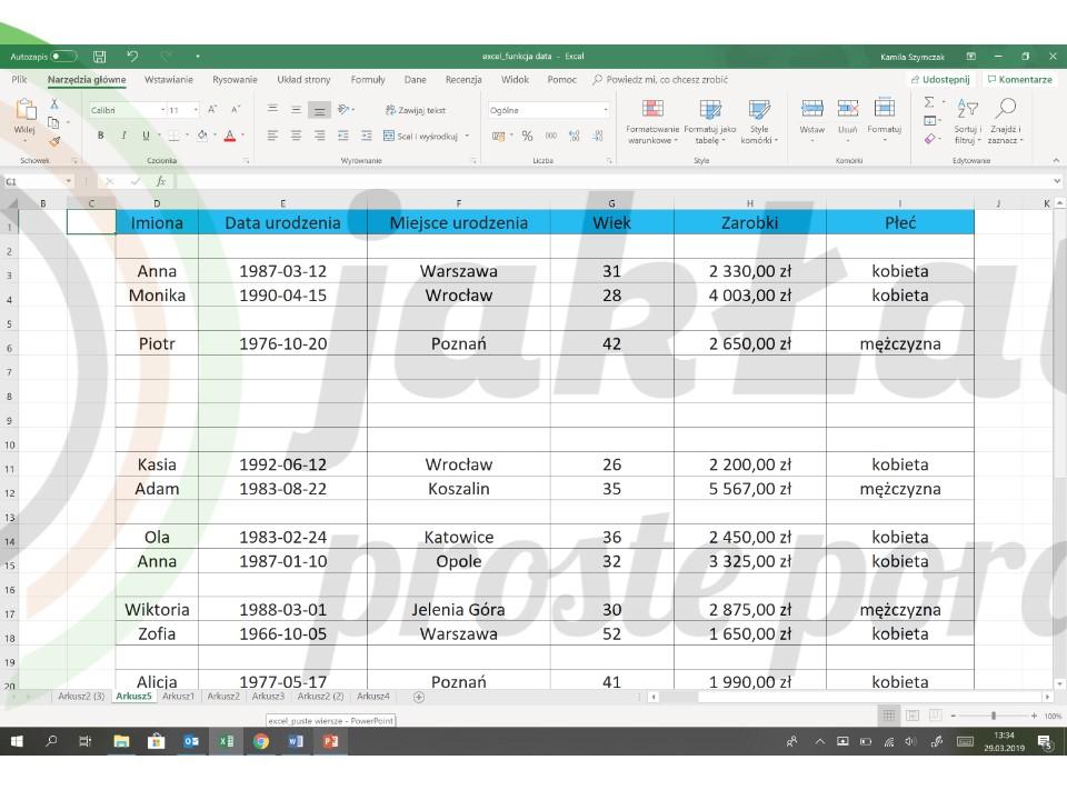 Jak Usunąć Puste Wiersze W Excelu Jak łatwo