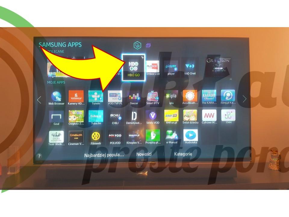 Jak łatwo korzystać z usług HBO GO na telewizorze Smart TV? - jak Łatwo?